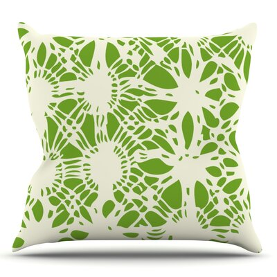 Drawnwork by Laura Nicholson Throw Pillow Size: 18 H x 18 W