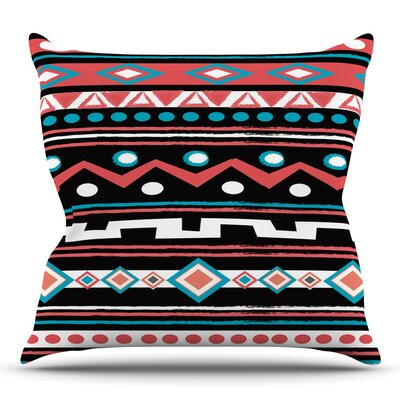 Black Tipi by Nika Martinez Throw Pillow Size: 16 H x 16 W