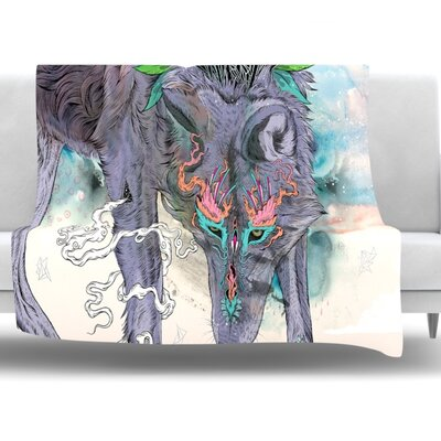 Journeying Spirit by Mat Miller Fleece Blanket Size: 40 L x 30 W