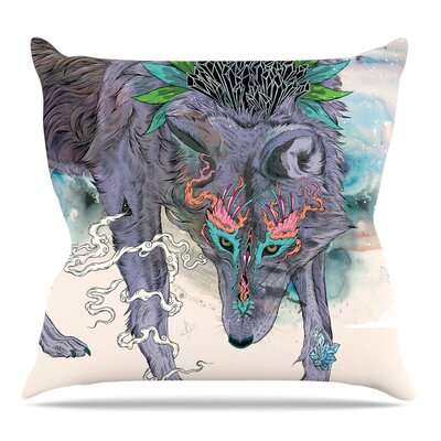 Journeying Spirit by Mat Miller Throw Pillow Size: 16 H x 16 W