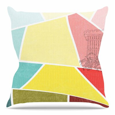 Cartagena Balconies by MaJoBV Throw Pillow Size: 18 H x 18 W