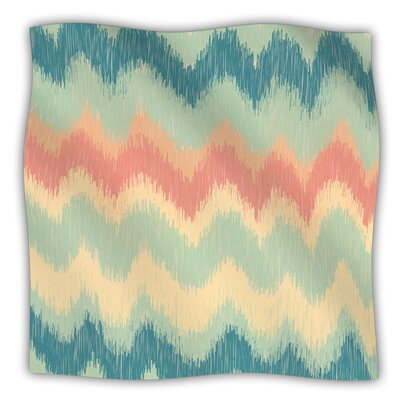 Ikat Chevron II by Nika Martinez Fleece Blanket Size: 60 L x 50 W