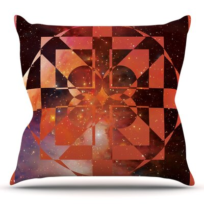 Galactic Hope Bittersweet by Matt Eklund Throw Pillow Size: 26 H x 26 W