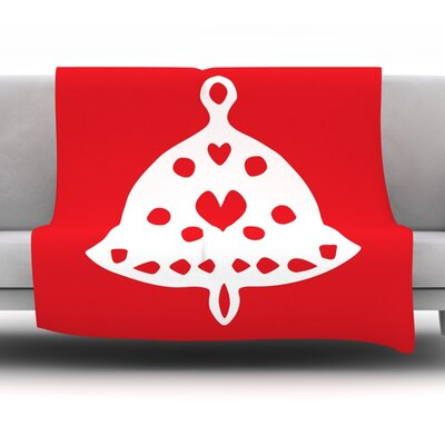 Jingle Bell by Miranda Mol Fleece Blanket Size: 60 L x 50 W
