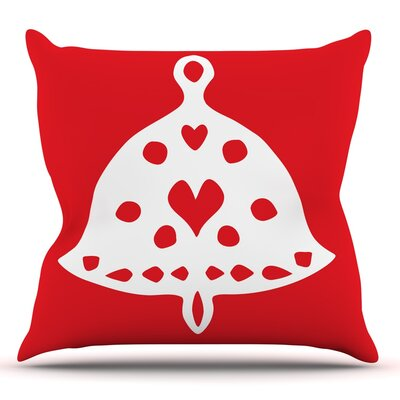 Jingle Bell by Miranda Mol Throw Pillow Size: 18 H x 18 W