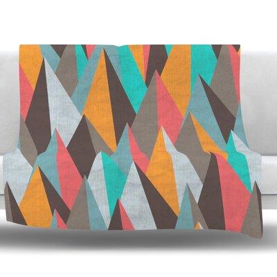 Mountain Peaks I by Michelle Drew Fleece Blanket Size: 40 L x 30 W