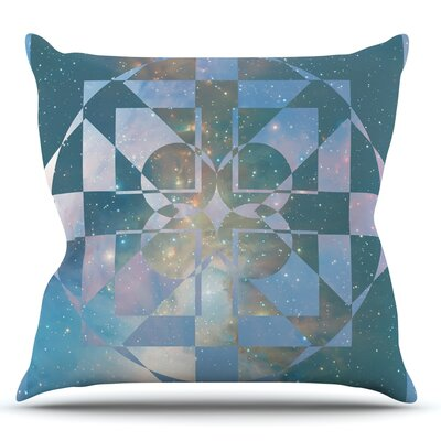 Galactic Hope by Matt Eklund Throw Pillow Size: 26 H x 26 W