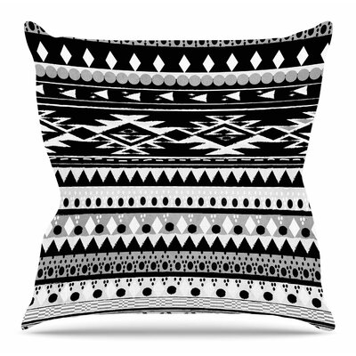 Black Hurit by Nika Martinez Throw Pillow Size: 18 H x 18 W