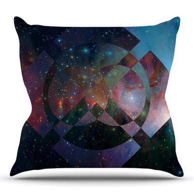 Galactic Radiance by Matt Eklund Throw Pillow Size: 18 H x 18 W