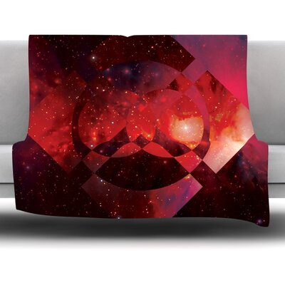 Galactic Radiance Crimson by Matt Eklund Fleece Blanket Size: 60 L x 50 W