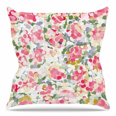 Soft Dots by Matthias Hennig Throw Pillow Size: 18 H x 18 W