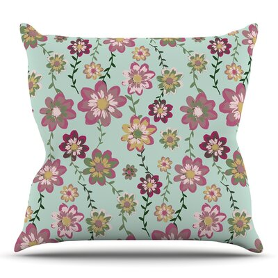 Romantic Floral by Nika Martinez Throw Pillow Size: 18 H x 18 W