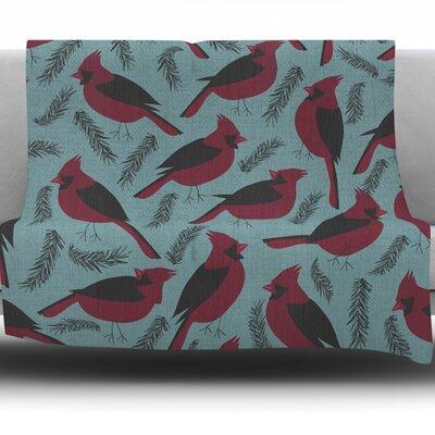 Winter Birds by Michelle Drew Fleece Blanket Size: 80 L x 60 W