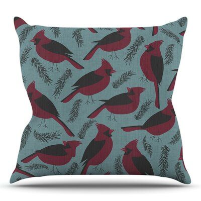 Winter Birds by Michelle Drew Throw Pillow Size: 26 H x 26 W