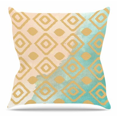 Watercolor Ikat by Nika Martinez Throw Pillow Size: 18 H x 18 W