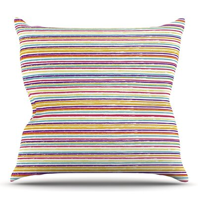 Summer Stripes by Nika Martinez Throw Pillow Size: 26 H x 26 W