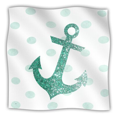 Glitter Anchor Fleece Blanket Size: 40 L x 30 W