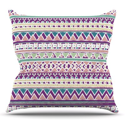 Boho Ibiza by Nika Martinez Throw Pillow Size: 18 H x 18 W