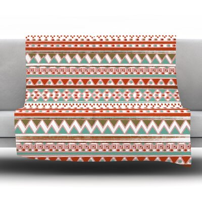 Boho Mallorca by Nika Martinez Fleece Blanket Size: 80 L x 60 W