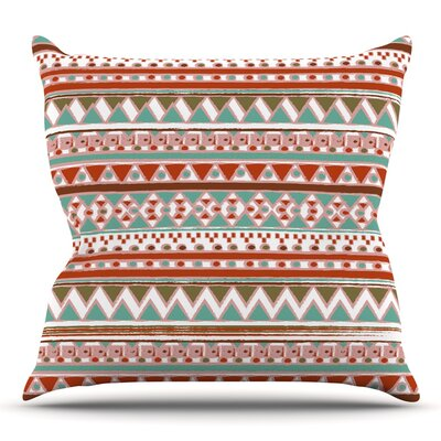 Boho Mallorca by Nika Martinez Throw Pillow Size: 18 H x 18 W