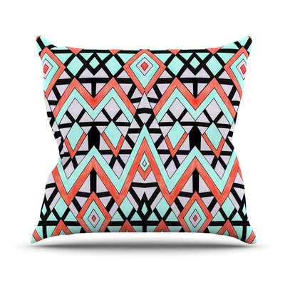 Geometric Mountains Outdoor Throw Pillow
