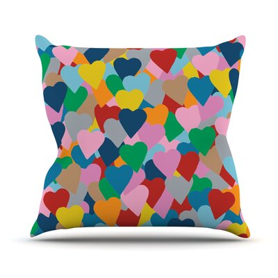More Hearts Outdoor Throw Pillow