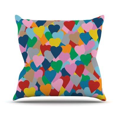 More Hearts Outdoor Throw Pillow
