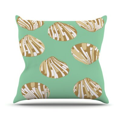 Scallop Shells Outdoor Throw Pillow