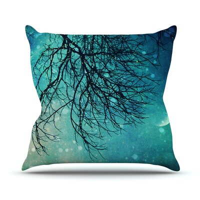 Winter Moon Outdoor Throw Pillow