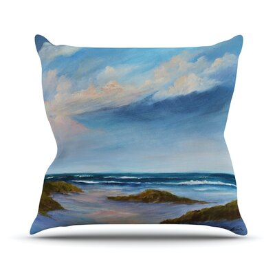 Wet Sand Outdoor Throw Pillow