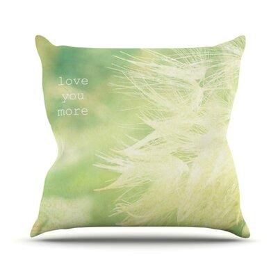 Love You More Outdoor Throw Pillow