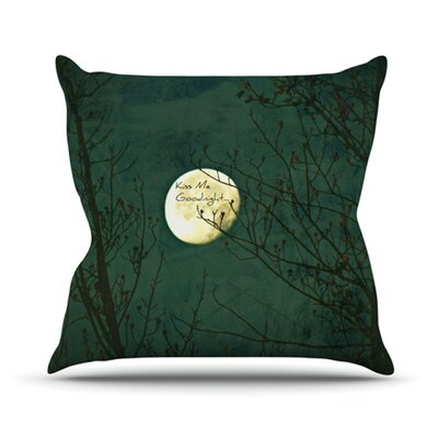 Kiss Me Goodnight Outdoor Throw Pillow