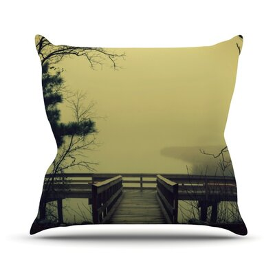 Fog on the River Outdoor Throw Pillow