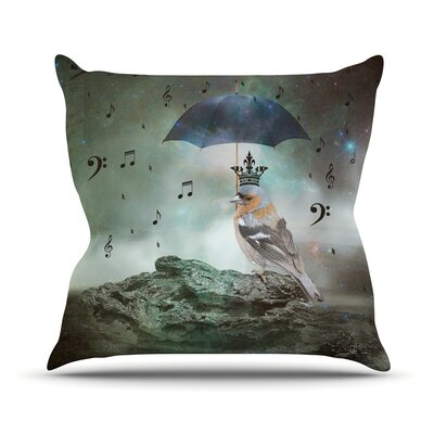 Umbrella Bird Outdoor Throw Pillow