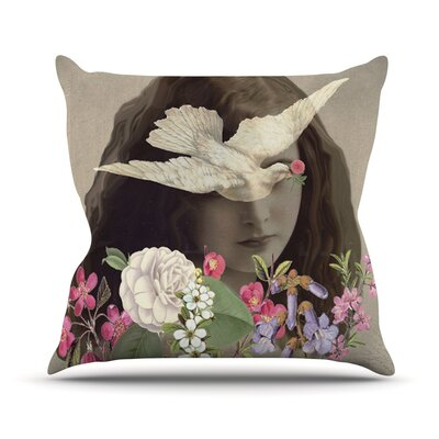 Doves Eyes Outdoor Throw Pillow