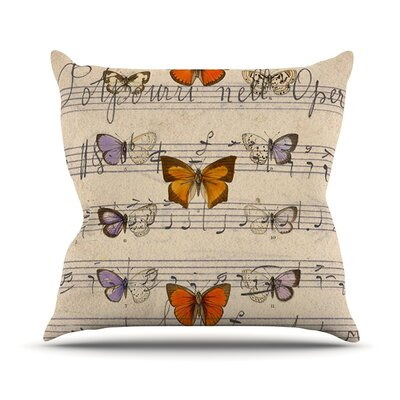 Butterfly Opera Outdoor Throw Pillow