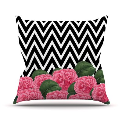Camellia Outdoor Throw Pillow