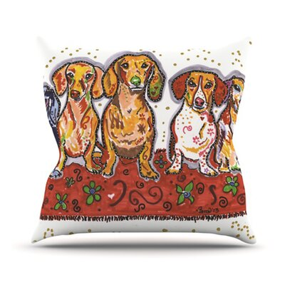 Maksim Murray Enzo Ruby & Willy Outdoor Throw Pillow