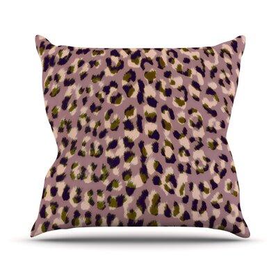 Leo Cheetah Outdoor Throw Pillow