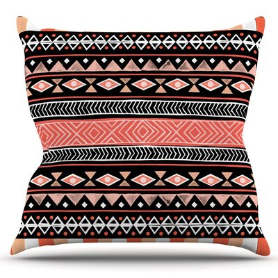 Mojave by Skye Zambrana Outdoor Throw Pillow Color: Orange