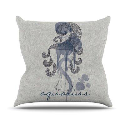 Aquarius Outdoor Throw Pillow