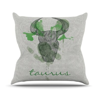 Taurus Outdoor Throw Pillow