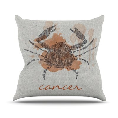 Cancer Outdoor Throw Pillow