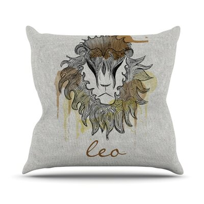 Leo Outdoor Throw Pillow