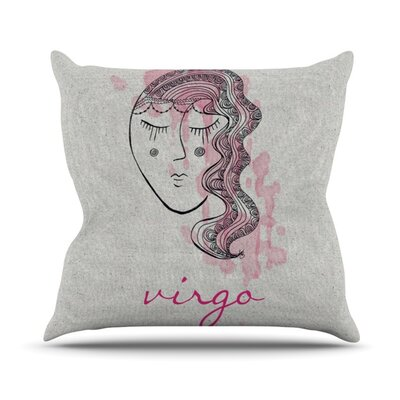 Virgo Outdoor Throw Pillow