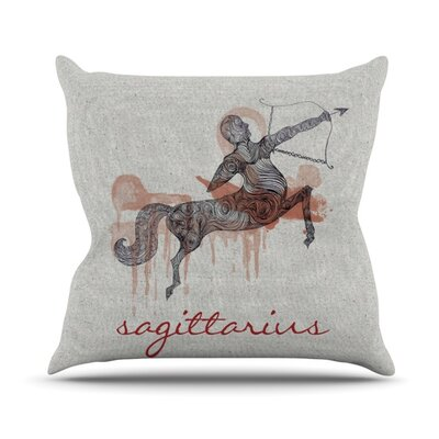 Sagittarius Outdoor Throw Pillow