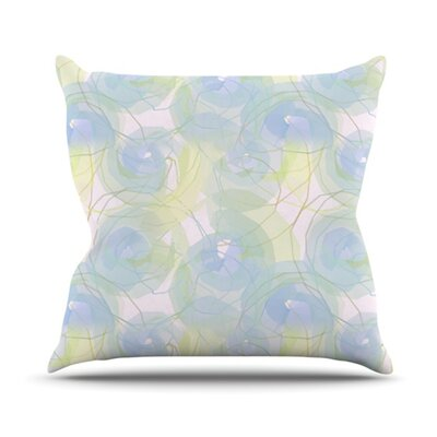 Paper Flower Outdoor Throw Pillow