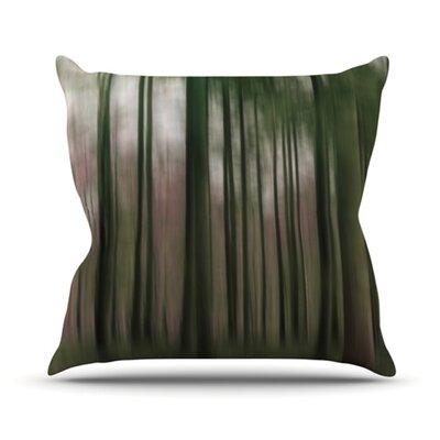 Forest Blur Outdoor Throw Pillow