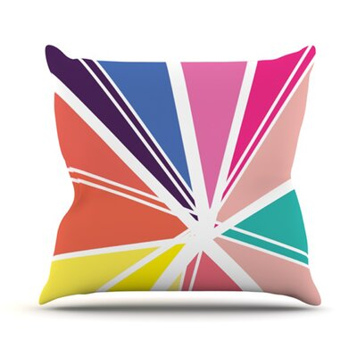 Boldly Bright Outdoor Throw Pillow