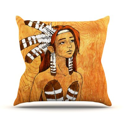 Owl Feather Dress Outdoor Throw Pillow